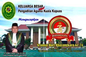 Ucapan Selamat HUT Bhayangkara Ke-74 Dari Pengadilan Agama Kuala Kapuas